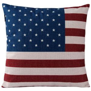 "American Flag - 18"" Square Throw Pillow"