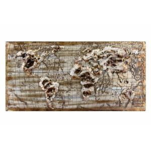 Relief World Map - 47 Inch Wall Art