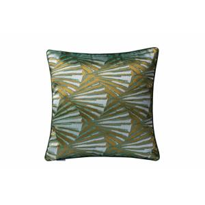 "Deco Fan - 18"" Square Throw Pillow"
