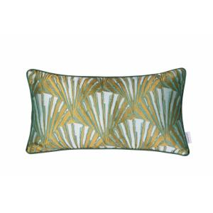 "Deco Fan - 20"" Lumbar Throw Pillow"