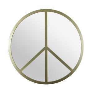 Paz - 30 Inch Round Peace Sign Accent Mirror