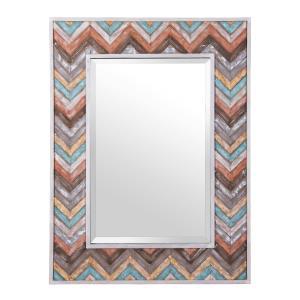 Jemma - Chevron Wood Rectangular Mirror