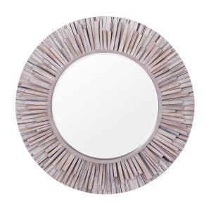 Nellie - Circular Wood Mirror