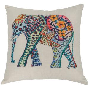 Elephant Square Throw Pillow (Case Only)
