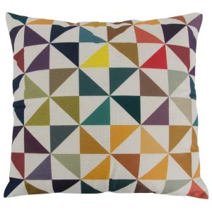 Colorful Triangles Square Throw Pillow (Case Only)