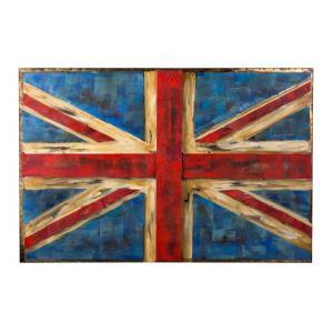 Varaluz Casa - UK Flag - 48.25 Inch Wall Art