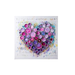 Work Of Heart - Fuchsia Mixed-Media Wall Art