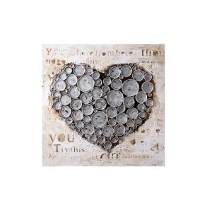 Work Of Heart - Silver Mixed-Media Wall Art