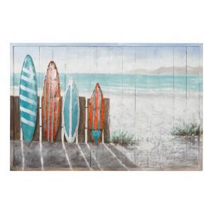 Surfer's Paradise - Mixed Media Wall Sconce Art