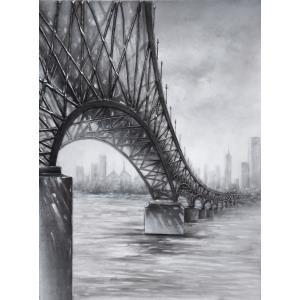 Casa - 47 Inch Moody Bridge Mixed-Media on Canvas Wall Art