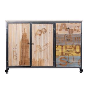 Rolling Accent Cabinet