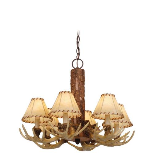 Vaxcel CH33006NS Lodge - Six Light Chandelier