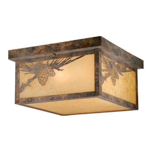 Vaxcel OF50511OA Yellowstone-Two Light Outdoor Ceiling Mount-11.5 Inches Wide by 6 Inches High