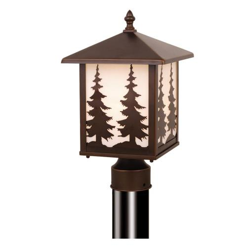 Vaxcel OP33485BBZ Yellowstone - One Light Outdoor Post Lantern
