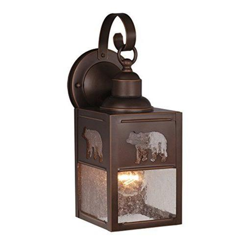 Vaxcel OW35053BBZ Yellowstone - One Light Outdoor Wall Sconce