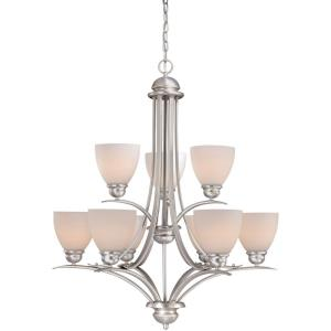 Avalon 9-Light Chandelier in Transitional Style 34.75 Inches Tall and 29.5 Inches Wide