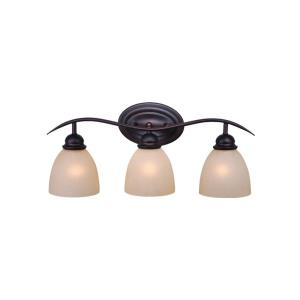 Avalon 3-Light Bathroom Light in Transitional Style 9.25 Inches Tall and 22.75 Inches Wide