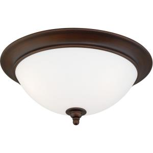 Lorimer 3-Light Flush Mount in Transitional and Dome Style 7 Inches Tall and 16.25 Inches Wide