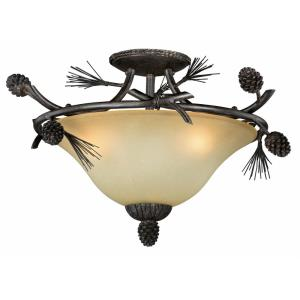 Sierra - Three Light Semi-Flush Mount