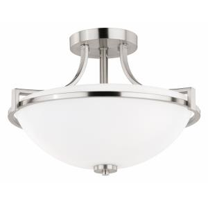 Metropolis - Three Light Semi-Flush Mount