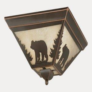 Bozeman-Three Light Flush Mount-14 Inches Wide by 5.75 Inches High