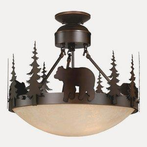 Bozeman - Three Light Semi-Flush Mount