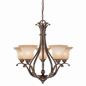 Monrovia 5-Light Chandelier in Transitional Style 25.5 Inches Tall and 26 Inches Wide