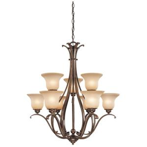 Monrovia 9-Light Chandelier in Transitional Style 34 Inches Tall and 31 Inch Wide