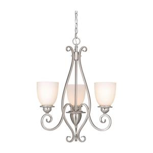 Mont Blanc 3-Light Mini Chandelier in Traditional Style 26.5 Inches Tall and 21 Inch Wide