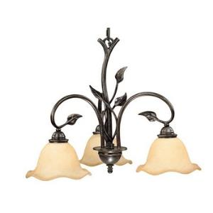 Vine-Three Light Chandelier-22 Inches Wide by 17.5 Inches High