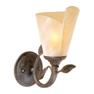 Capri 1-Light Bathroom Light in Rustic Style 10.25 Inches Tall and 5.5 Inches Wide