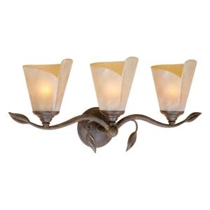 Capri 3-Light Bathroom Light in Rustic Style 10.25 Inches Tall and 23.25 Inches Wide