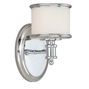 Carlisle 1-Light Bathroom Light in Transitional Style 8 Inches Tall and 5.75 Inches Wide