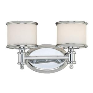 Carlisle 2-Light Bathroom Light in Transitional Style 8 Inches Tall and 13.75 Inches Wide