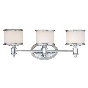 Carlisle 3-Light Bathroom Light in Transitional Style 8 Inches Tall and 22.25 Inches Wide