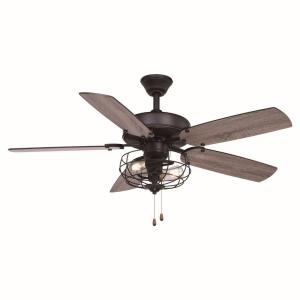 Reed 2-Light Ceiling Fan in Farmhouse Style 20 Inches Tall and 48 Inches Wide