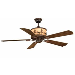 Yellowstone 4-Light Ceiling Fan in Rustic Style 18 Inches Tall and 56 Inches Wide