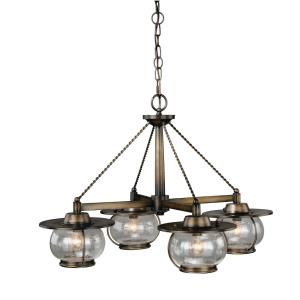 Jamestown 4-Light Chandelier in Coastal Style 17.5 Inches Tall and 27.5 Inches Wide