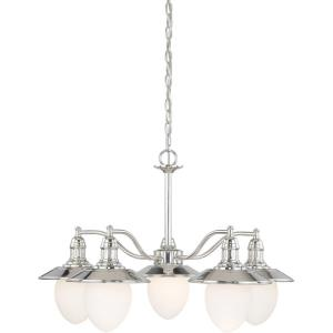 Marina Bay 5-Light Chandelier in Coastal Style 19.25 Inches Tall and 29 Inches Wide