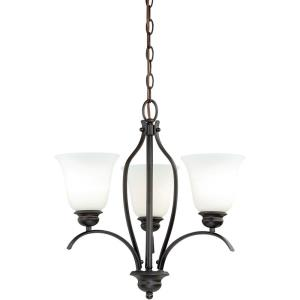 Darby 3-Light Mini Chandelier in Transitional Style 19 Inches Tall and 18 Inches Wide