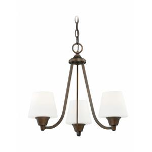 Calais 3-Light Mini Chandelier in Transitional Style 16 Inches Tall and 18 Inches Wide