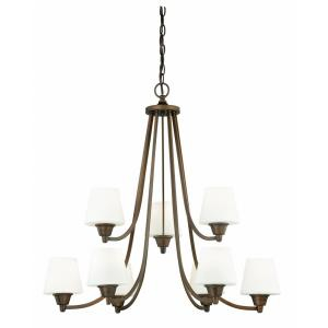 Calais 9-Light Chandelier in Transitional Style 28.5 Inches Tall and 30 Inches Wide