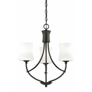 Poirot 3-Light Mini Chandelier in Transitional Style 22 Inches Tall and 21 Inch Wide