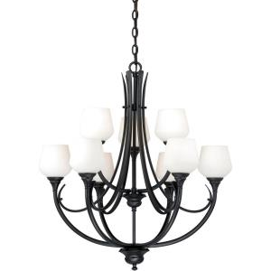 Grafton 9-Light Chandelier in Transitional Style 32.5 Inches Tall and 28.5 Inches Wide