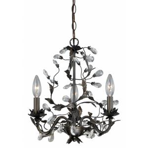 Trellis - Three Light Mini Chandelier
