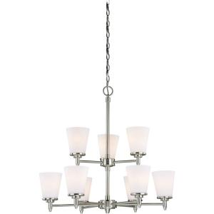 Eastland 9-Light Chandelier in Transitional Style 28 Inches Tall and 30 Inches Wide