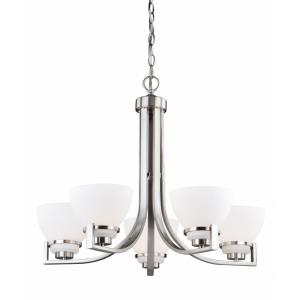 Metropolis 5-Light Chandelier in Transitional Style 21.5 Inches Tall and 26 Inches Wide
