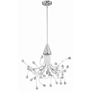 Astrid 5-Light Chandelier in Contemporary and Abstract Style 27.5 Inches Tall and 22.5 Inches Wide