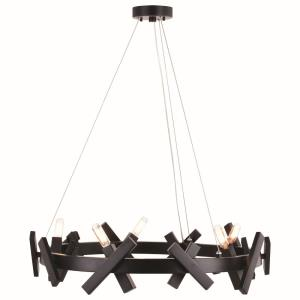 Wells 5-Light Chandelier in Contemporary and Wheel Style 6.5 Inches Tall and 28 Inches Wide