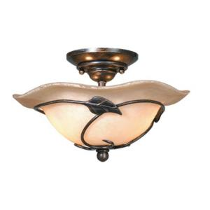 Vine 2-Light Convertible Light Kit in Rustic and Bowl Style 6.75 Inches Tall and 12 Inches Wide